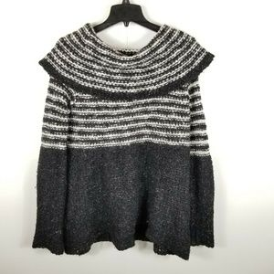 Free People  Chunky Knit Sweater Off the Shoulder